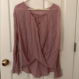 Pinkish/purple long sleeve blouse!